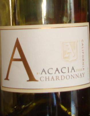 acacia winery, acacia chardonnay, wine, chardonnay, wine bottle