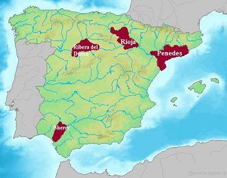 spanish wine, spanish wine regions, spain