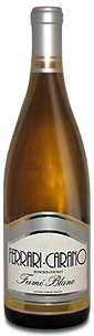 wine bottle, ferrari carano, fume blanc, sauvignon blanc